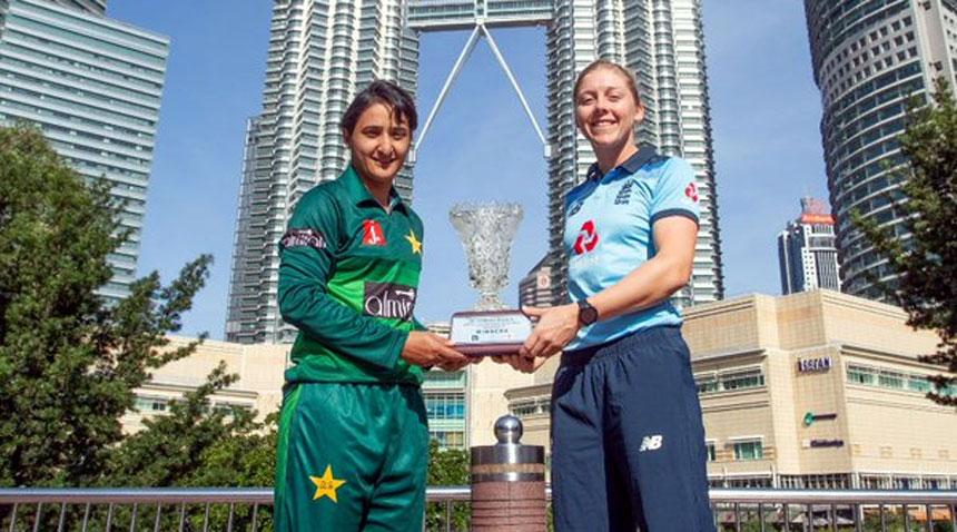 Pakistan and England women cricket teams