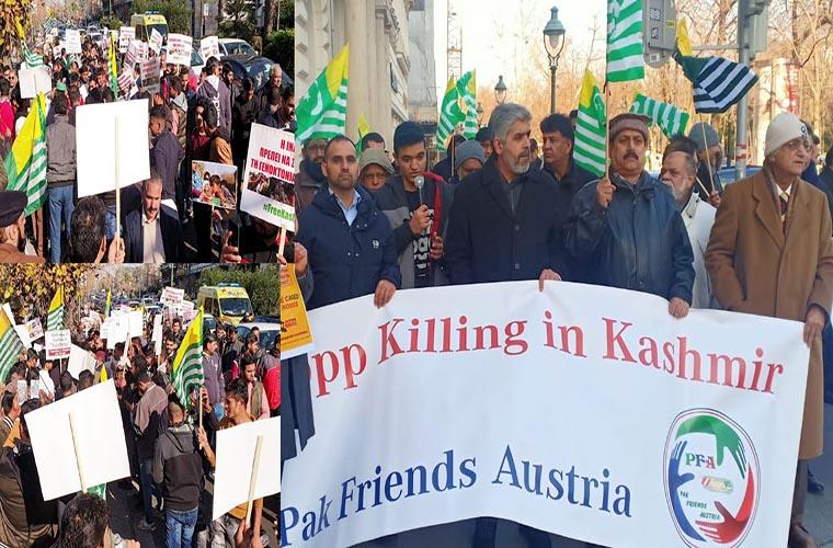 Vienna witnesses pro Kashmir protest