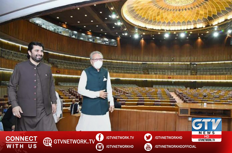 President Alvi visits National Assembly
