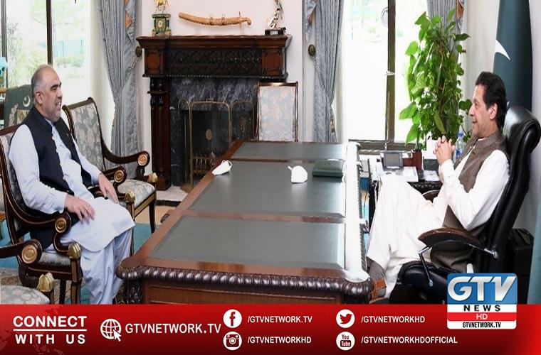 NA Speaker Asad Qaiser meets PM