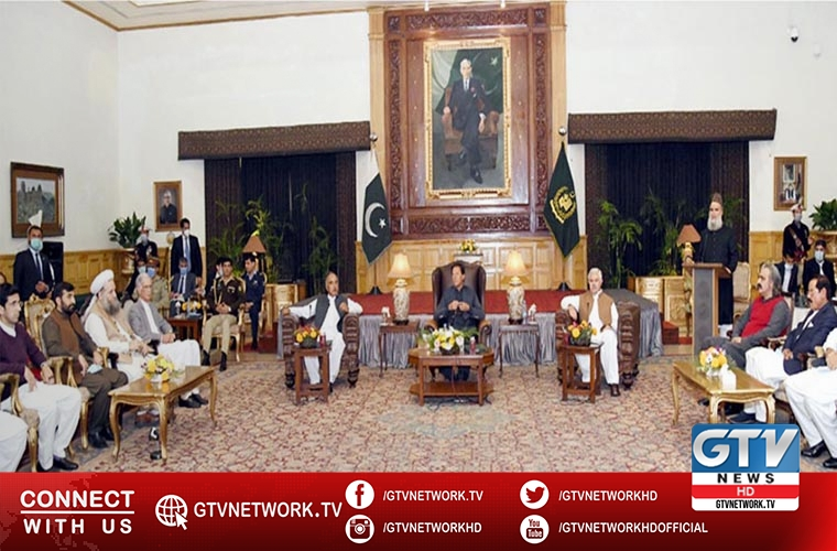 KP cabinet members and MPAs meet Prime Minister