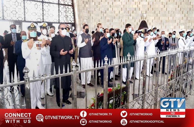 Governor and CM Sindh visits Mazar e Quaid on Pakistan Day