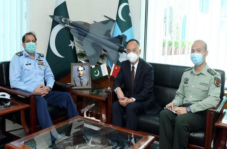 Ambassador of China calls on Air Chief in Islamabad