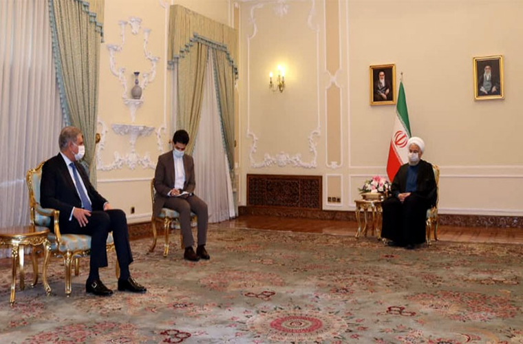 Foreign Minister Shah Mahmood Qureshi meets Iran President