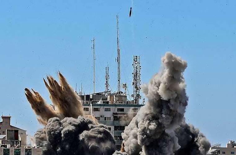 Israeli missiles destroy offices of AP and Al Jazeera