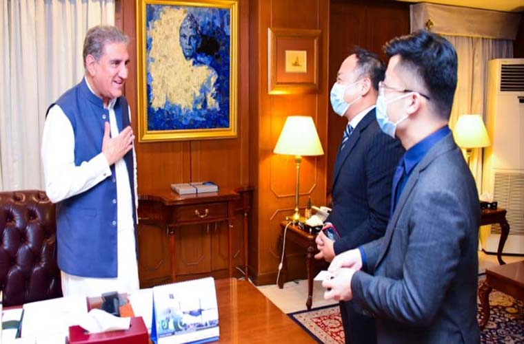 Foreign Minister Shah Mahmood Qureshi lauds Huawei Technologies