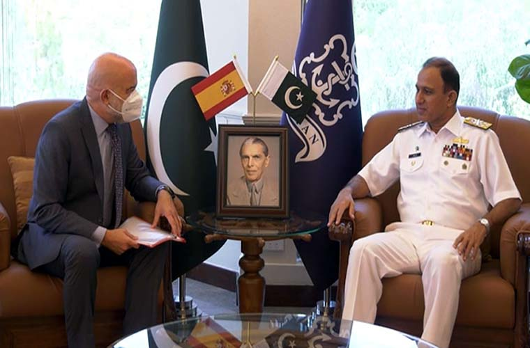 Ambassador of Spain calls on Pakistan Navy chief
