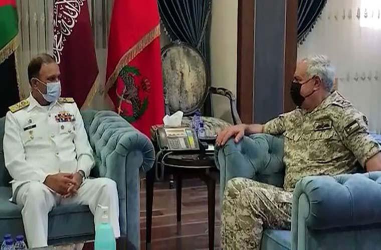 Pakistan Navy Chief meets Jordanian military officials